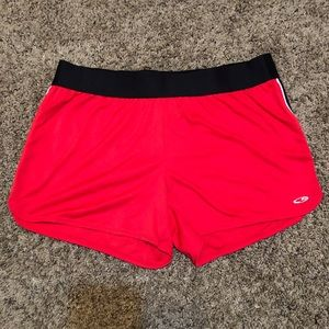 CHAMPION RED WOMENS SHORTS